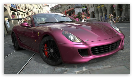 Download Ferrari 599 Pink UltraHD Wallpaper