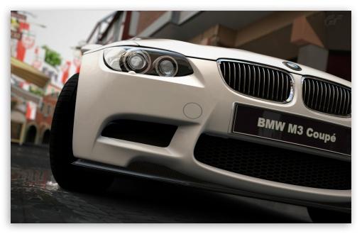 Download BMW M3-White UltraHD Wallpaper
