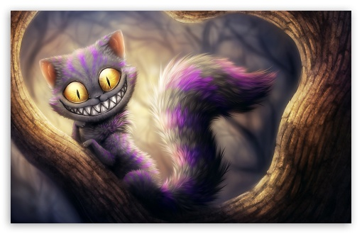 Download Cheshire Cat, Alice's Adventures in... UltraHD Wallpaper