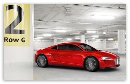 Download Audi E Tron   Parking Garage UltraHD Wallpaper