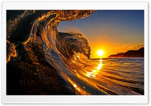 Sunset, Sea Wave