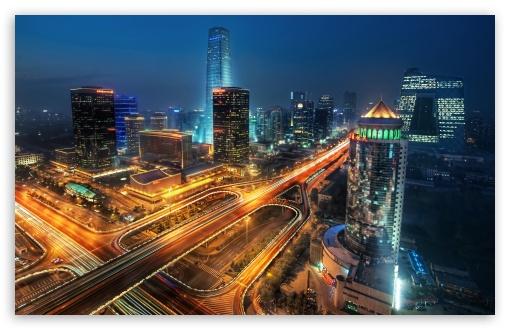 Download Beijing At Night, China UltraHD Wallpaper