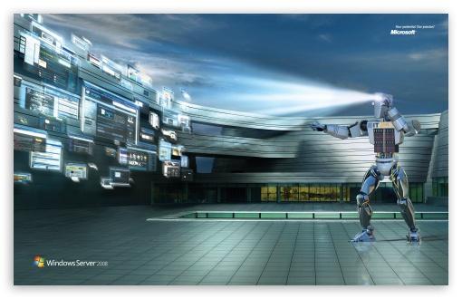 Download Windows Server 2008 Unleashed IT 24-7 Robot UltraHD Wallpaper