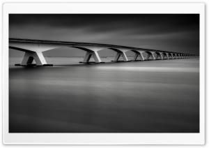 Zeeland Bridge Black and White