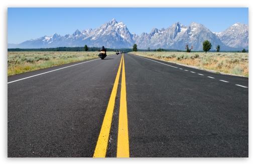 Download Grand Teton National Park Road UltraHD Wallpaper