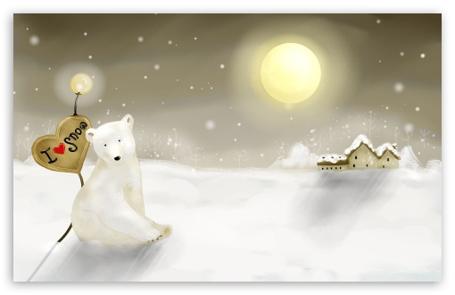 Download I Love Snow UltraHD Wallpaper