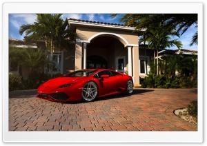 Red Lamborghini Huracan Florida