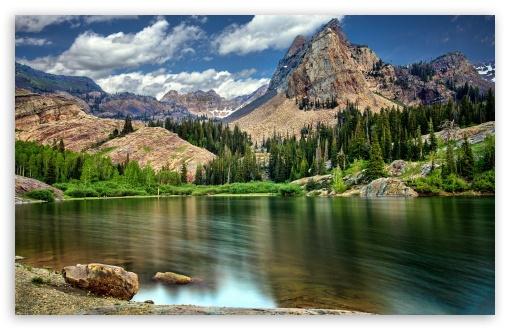 Download Mountain Scenery Long Exposure UltraHD Wallpaper