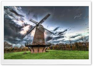 Mill Under Gray Sky