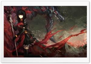 Warrior Fighting A Dragon