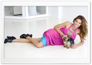 Miranda Kerr And Her Puppy