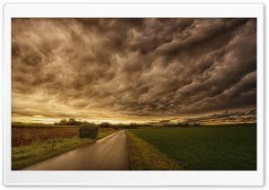 Dark Storm Clouds, Road,...