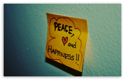 Download Peace, Love And Happiness UltraHD Wallpaper