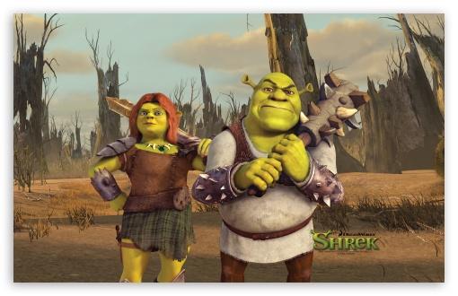 Download Shrek And Fiona, Shrek The Final Chapter UltraHD Wallpaper