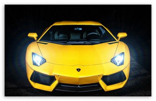 Download Lamborghini Aventador Headlights On UltraHD Wallpaper