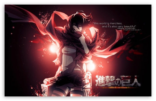 Download Mikasa Ackerman UltraHD Wallpaper