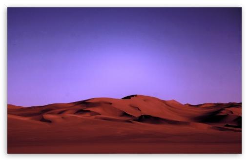 Download Desert At Night UltraHD Wallpaper