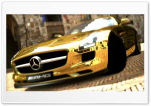 Mercedes Benz SLS AMG Gold