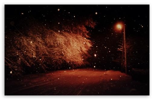 Download Dark Winter Night UltraHD Wallpaper