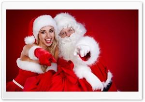 Santa Claus and a Girl