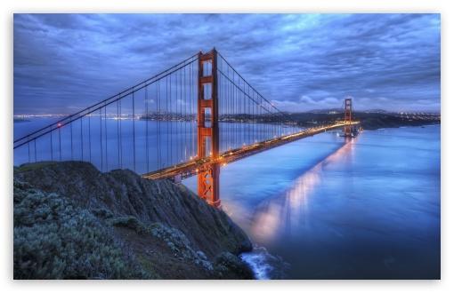 Download The Golden Gate Bridge At Dusk UltraHD Wallpaper