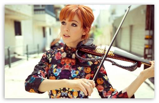 Download Lindsey Stirling Violin UltraHD Wallpaper