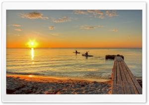 Canoeing At Sunsrise
