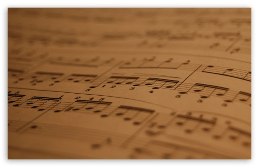 Download Musical Score UltraHD Wallpaper