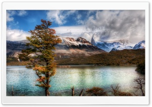 Emerald Lake In The Andes