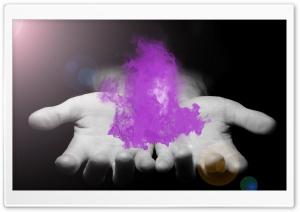 Purple Fire in Hands