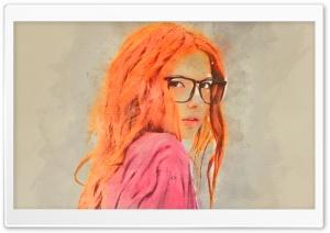 Girl Red Hair Watercolor