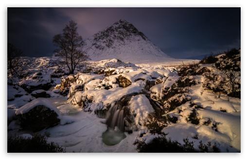 Download Buachaille Etive Mor Mountain Winter Snow,... UltraHD Wallpaper