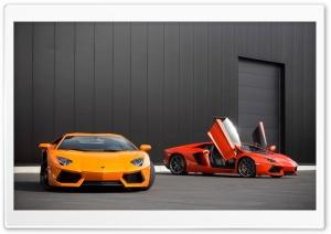 Red and Orange Lamborghini...
