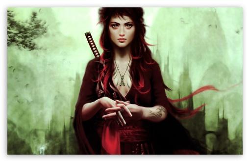 Download Warrior Girl UltraHD Wallpaper