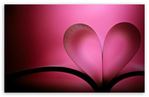 Download Heart Book Valentine's Day UltraHD Wallpaper