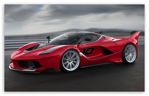 Download Red Ferrari FXX K Sports Car High Speed UltraHD Wallpaper