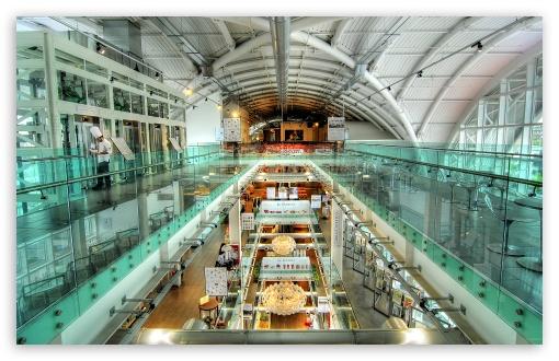 Download Glass Building Interior HDR UltraHD Wallpaper