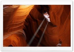 Light Beams In Arizona Canyons