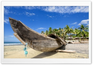 Tropical Wooden Boat