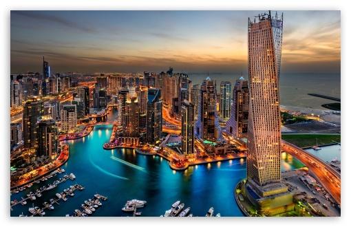 Download Dubai Marina, United Arab Emirates UltraHD Wallpaper