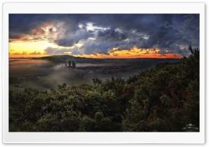 Corfe Castle Mist, Dorset,...