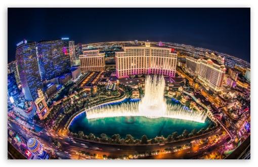 Download Bellagio Fountain Show UltraHD Wallpaper