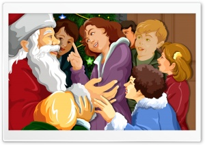 Santa Surrounded By Children