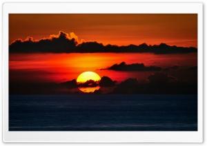 Red Sky, Big Sun Set