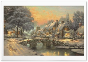 Classic Christmas Painting by...