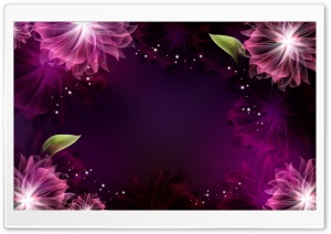 Abstract Purple Flowers 1