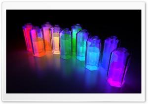 Colorful 3D Bottles