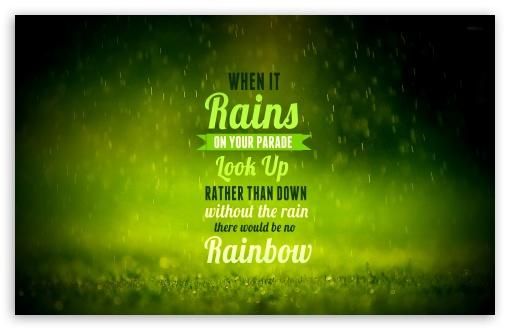 Download Rain Quote UltraHD Wallpaper