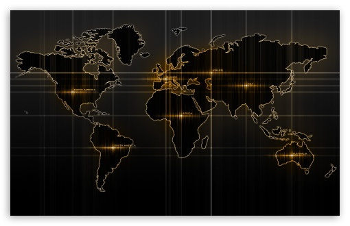 Download World Map Yellow UltraHD Wallpaper