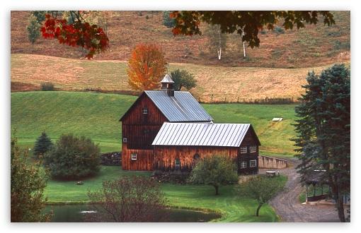 Download Sleepy Hollow Farm UltraHD Wallpaper